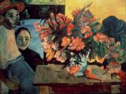 Husband Painting Posters - Flowers of France Poster by Paul Gauguin