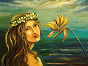 Gina Gray Paintings - Flowers of Paradise 11 by Gina De Gorna