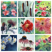 Mums Paintings - Flowers of Summer by MaryAnn Cleary