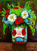 Floral Paintings - Flowers with an Italian twist by Patricia Awapara