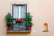 Outlook Photo Posters - Flowery Balcony Poster by Carlos Caetano
