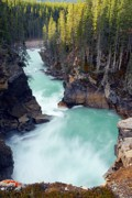 Alberta Water Falls Prints - Flowing Away Print by Larry Ricker