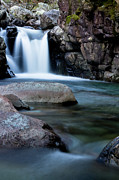 Lake District Framed Prints - Flowing Falls Framed Print by Justin Albrecht