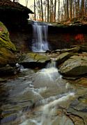 Ledge Framed Prints - Flowing Falls Framed Print by Robert Harmon