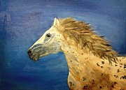 Mustang Paintings - Flowing Mane by Tina Karen
