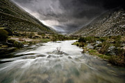 Green Clouds Prints - Flowing stream Print by Jorge Maia