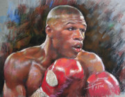 Boxer Framed Prints - Floyd Mayweather Jr Framed Print by Ylli Haruni
