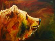 Bear Art Paintings - Fluffy Bear by Diane Whitehead