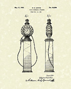 Griffin Prints - Fluid Pump 1932 Patent Art Print by Prior Art Design