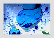 Fluidism Abstract Art Mixed Media Prints - FLUIDISM Aspect 166 Frame Print by Robert G Kernodle