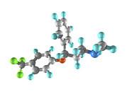 Fluoxetine Drug Molecule Print by Laguna Design
