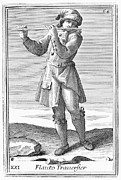 Flute, 1723 Print by Granger