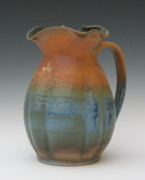 Orange Ceramics Originals - Fluted Pitcher by Sylvia Shirley