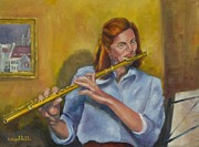 Terry Cipelletti - Flutist in blue