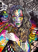 Rainbow Hair Posters - Flux Poster by Callie Fink