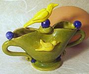 Featured Ceramics - Fly Away Bird  Back View by Kathryn Carr
