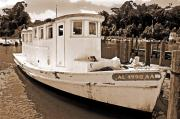 Shrimp Boat Prints - Fly Creek Work Boat Print by Michael Thomas