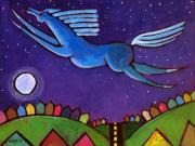 Night Out Painting Prints - Fly Free from Normal Print by Angela Treat Lyon