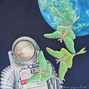 The View Mixed Media - Fly Me to the Moon by Melissa J Szymanski