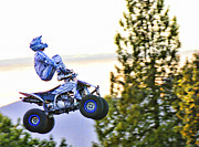 Motorsports Originals - Flyin 6 On the Quad by Lawrence Christopher
