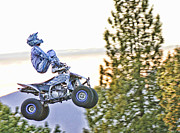 Motorsports Originals - Flying 7 Ouch by Lawrence Christopher