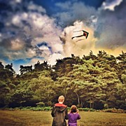Children Photos - #flying A #kite With My #children In by Nikki Sheppard