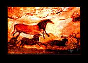 Prehistoric Paintings - Flying by Angela Treat Lyon