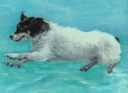 Terriers Pastels - Flying Boo by Pamela Humbargar