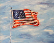 Independence Day Paintings - Flying Colors by Daniel W Green