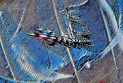 Abstracted Digital Art Prints - Flying Dragon Print by Ruth Edward Anderson
