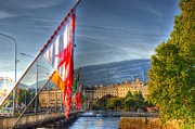 Malmo Digital Art - Flying Flags by Barry R Jones Jr