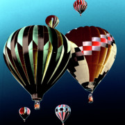 Hot Air Balloons Digital Art - Flying High by David Patterson