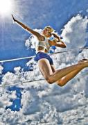 Athlete Prints - Flying high Print by Steve Williams