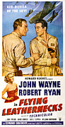 Films By Nicholas Ray Photo Framed Prints - Flying Leathernecks, John Wayne, Robert Framed Print by Everett