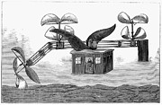 Fanciful Metal Prints - Flying Machine, 1877 Metal Print by Granger