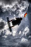 Kiteboarding Art - Flying  by Nick  Shirghio