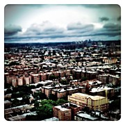Iphonesia Acrylic Prints - Flying Over Queens Acrylic Print by Natasha Marco
