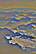 Mountains Digital Art - Flying Over The Alps by Eva Kaufman