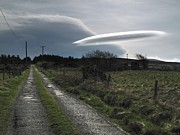Flying Saucer Prints - Flying Saucer Cloud Print by Cordelia Molloy
