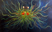 Spaghetti Painting Framed Prints - Flying Spaghetti Monster Framed Print by Alizey Khan