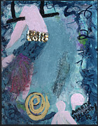 Greeting Cards Ovarian Cancer Painting Prints - Flying Without a Net Print by Annette McElhiney