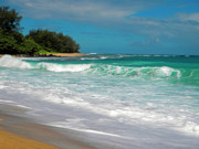 Tunnels Beach Prints - Foamy Surf Print by Frank Wilson