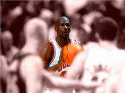 Michael Jordan Digital Art Prints - Focus Print by Brandon Ramquist