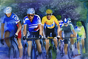 Tour De France Paintings - Focus on Yellow by Shirley  Peters