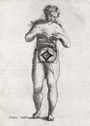 Foetus In Uterus, 17th Century Artwork Print by Middle Temple Library