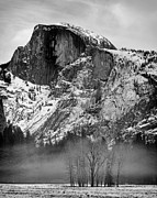 Mariposa County Prints - Fog Ahwahnee Meadow and Half Dome Yosemite National Park Print by Troy Montemayor