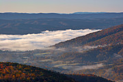 Foggy Day Posters - Fog in the Alleghenys Two Poster by Susan Isakson