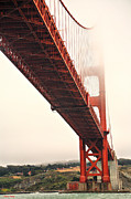 Wonders Of The World Posters - Fog lifting at the Golden Gate Poster by Cheryl Young