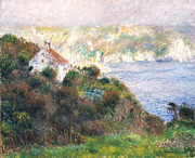 Picturesque Painting Prints - Fog on Guernsey Print by Pierre Auguste Renoir