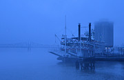 Mississippi River Scene Posters - Fog on the Mississippi Poster by Jeanne  Woods